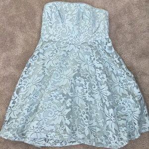 Ann Taylor Women's Blue Strapless Bridesmaid Dress